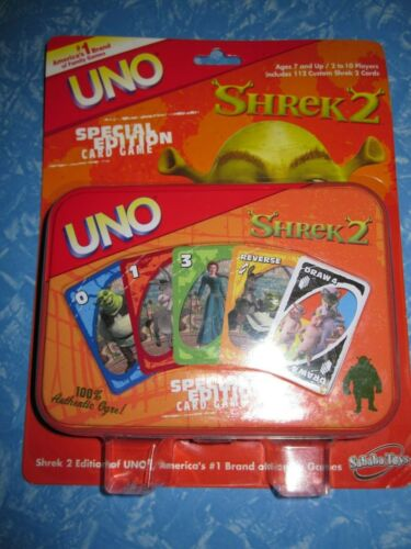 SHREK 2 ~ UNO Card Game by Sababa ~ Collectible Tin ~ in Original Package