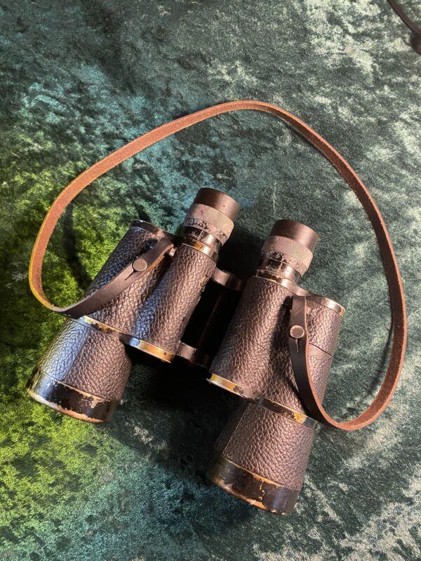 Vintage E Leitz Wetzlar Binoculars 7x50 Dienstglas
