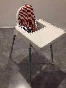 IKEA Highchair with Tray, Supporting Cushion and Cover
