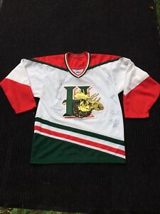 Vintage AUTO-GRAPHED Men's HALIFAX MOOSEHEADS JERSEY - Small