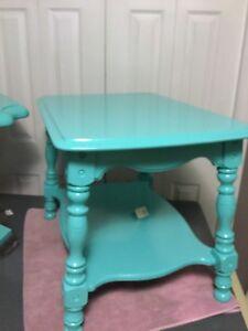 Blue single side table