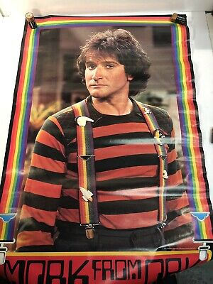 MORK FROM ORK MORK & MINDY ROBIN WILLIAMS 1979 RED POSTER