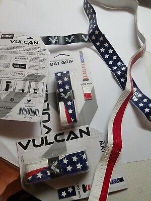 3 Pack  America  Vulcan Advanced 1Mm Baseball Softball Bat Handle Cushion Grips