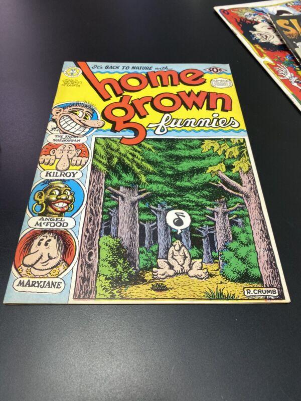 VINTAGE HOME GROWN FUNNIES #1 1ST PRINTING!!! 1971 KITCHEN SINK ROBERT CRUMB