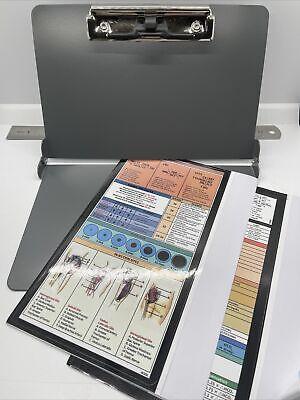 Foldable Doctor Or Medical Student Metal Clipboard Grey Aluminum Student Nurse