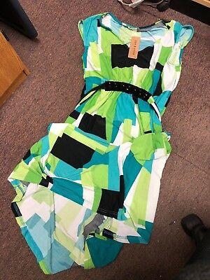 Jon & Anna Green/Black Maxi Dress  SIZE LARGE Style D8015 (Anna Green Dress)