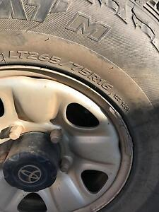 6 x Steel rims and tyres 16 inch 5 stud Bunbury Bunbury Area Preview