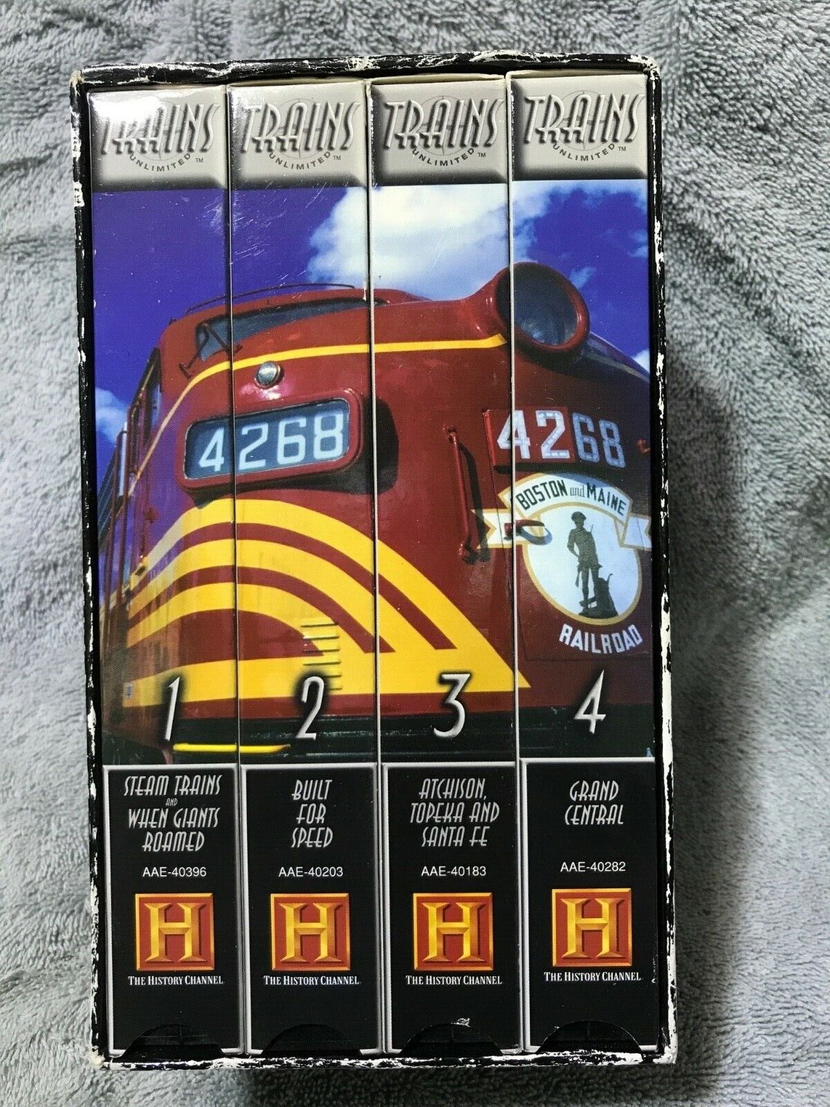 Trains Unlimited 4 VHS Railroad Video Collector's Set - The History Channel