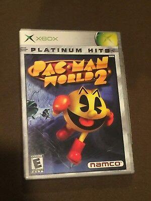 Original Microsoft XBox Video Game Pac-Man World 2 Platinum Hits Rated T