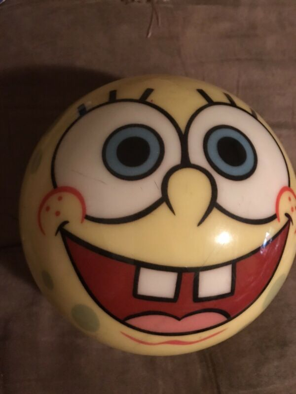 Rare SpongeBob SquarePants 2002 Brunswick Bowling Ball Undrilled 7 Lb