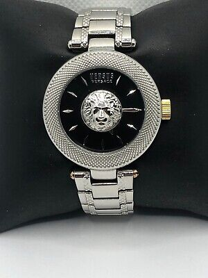 Versus Versace VSP640318 Women's Stainless Steel Analog Black Dial Watch KS485