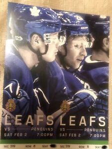 Leafs vs Penguins Saturday February 2nd