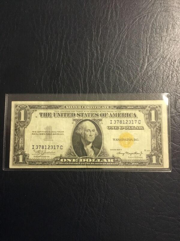 1935 A series, North Africa Silver Certificate, Gold Seal