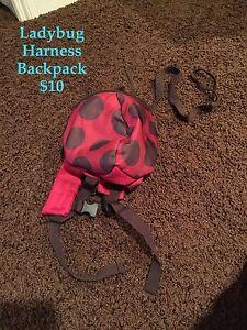 Ladybug leash backpack