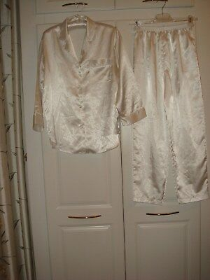 Women's Linda for La Vie en Rose Pyjama Set Ivory White Small  (La Linda Rose)