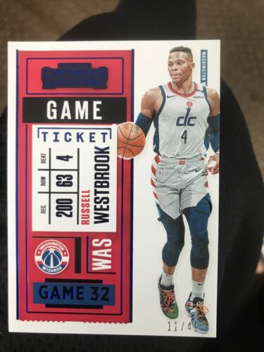 2020-21 Contenders Basketball - Russell Westbrook Blue Foil 11/49 Wizards 60  - $5.79