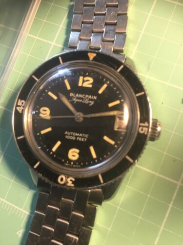 BLANCPAIN AQUALUNG DIVE AS 1555 AUTOMATIC STAINKESS 1958 NICE RARE 39/40mm - watch picture 1