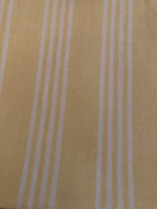 Longaberger Medium Market Basket Liner -  Buttercup Yellow Stripe