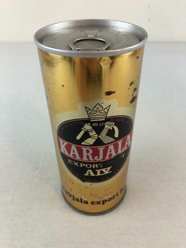Karjala Export Steel Sided Beer Can - Bottom Opened Pull Tab - Finland
