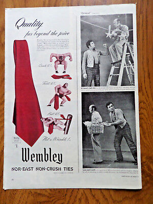 1945 Wembley Ties Ad Nor-East Non-Crush Ties
