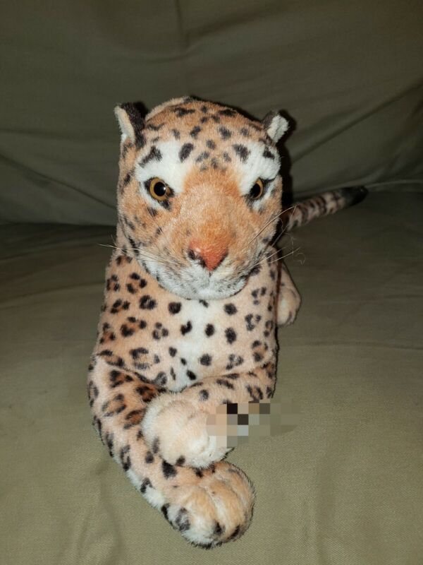 Realistic Collectable Leopard/Cheetah Plush Large 21 inch Goffa Intl Plush