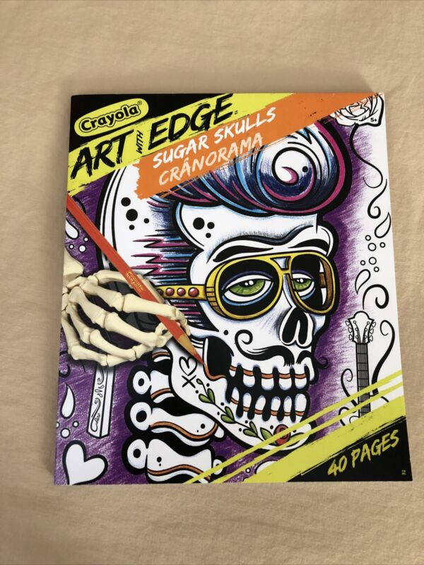 Crayola Art with Edge Coloring Book Skeletons Sugar Skulls Funny 40 Pages New