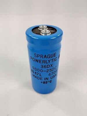 LOT OF 2 SPRAGUE 36DX452G025AA2A 4500uF 25V Large Can Electrolytic Capacitor