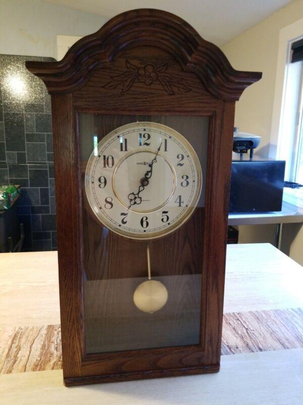 Howard Miller Bellflower Wall Clock 613-235 Working Chimes EUC K10110