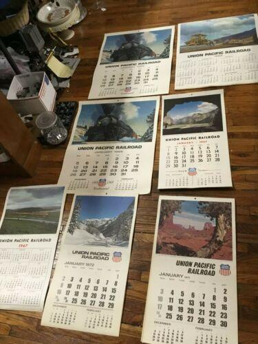 Lot of 7 Railroad Company - Union Pacific - Calendars...........cp