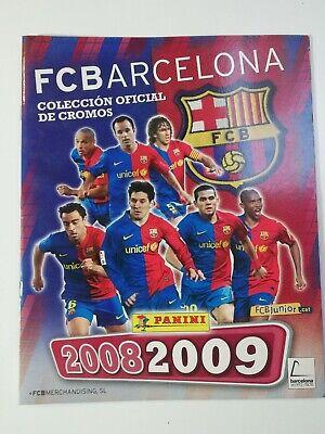 Album F.C.Barcelona 2008/2009 Panini, en perfecto estado.Cromos sin pegar.