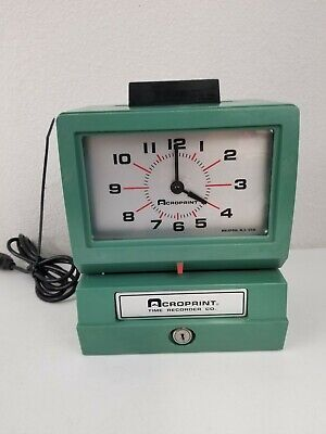 Acroprint 125 Nr4 Time Clock Punch Card Recorder