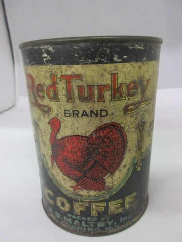 VINTAGE RED TURKEY COFFEE   ADVERTISING COLLECTIBLE  M-89