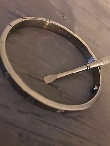 Silver Cartier Love Bangle bracelet size 18