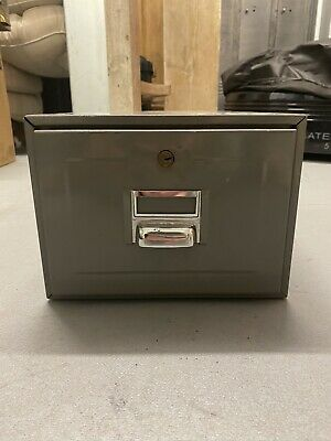 Industrial Vintage One Drawer Filing Cabinet Storage