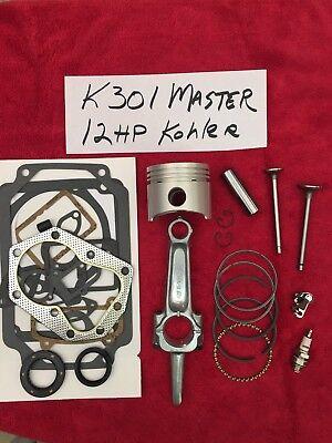 Master Rebuild Kit For 12Hp Kohler K301 Valves  Tune Up