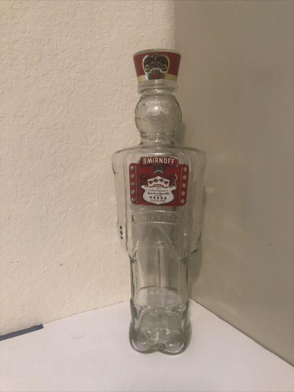 1997 Smirnoff Vodka - Toy Soldier - Nutcracker - Glass Bottle