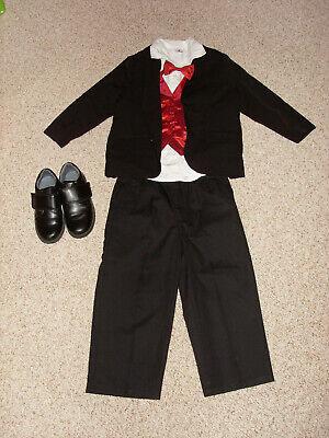Festliches Outfit für Jungen Gr. 98/104, Schuhe Gr. 27, Hochzeit, Komplett-Set