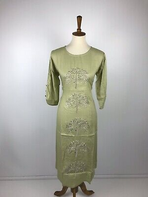 IBC $19  Anarkali Kurta Party wear DRess Designer Embroidery both sides XL 42