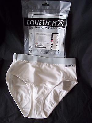 Ladies Horse Riding Underwear Dressage Brief Classic - White - Medium - Equetech