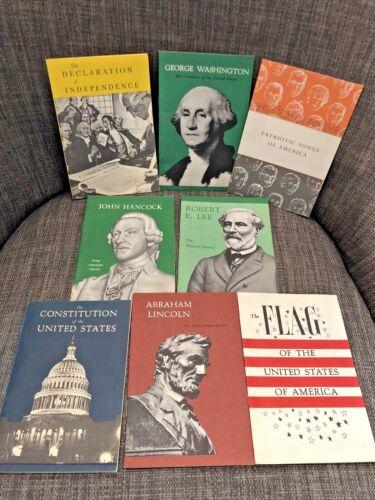 Lot of 8 Vintage John Hancock Insurance American History Booklets 1950