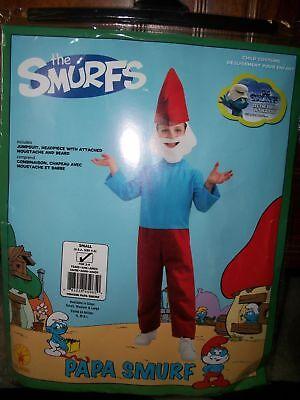 NEW Rubie's The Smurfs Papa Smurf Child's Halloween Costume Size Small 4-6