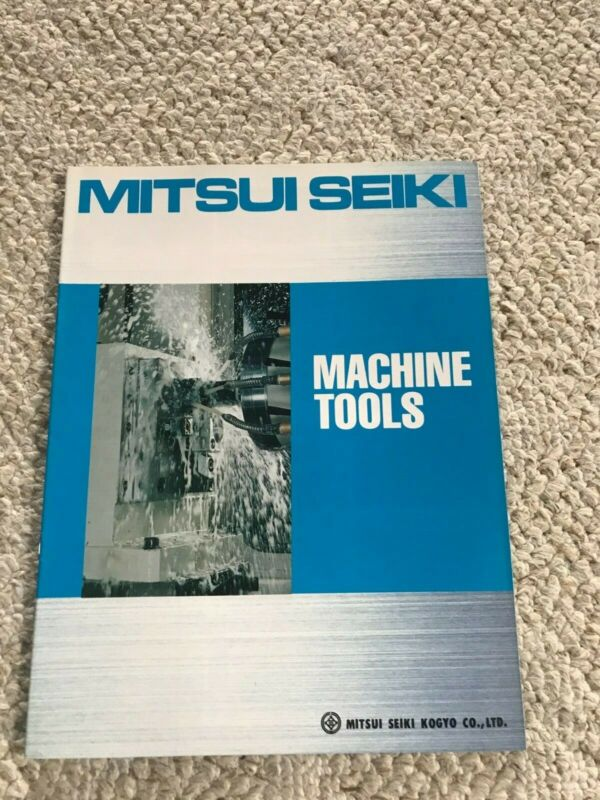 MITSUI SEIKI MACHINE TOOLS SPECIFICATION CATALOG