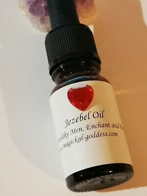 Jezebel Hoodoo Oil 10ml Dropper Bottle.
