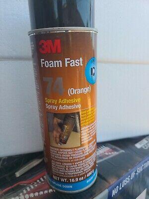 3m - 74 Foam Fast Spray Adhesive 16.9 Oz Board Orange Can Glue