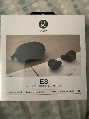 Brand New B&O PLAY E8 by Bang & Olufsen Truly Wireless Bluetooth Earbuds - Black
