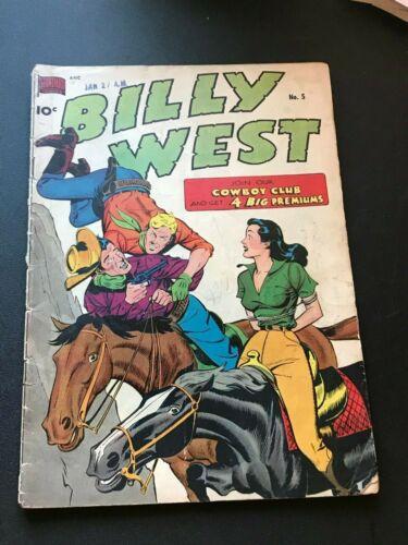 Billy West #5 Standard Comics 1950 GD/VG