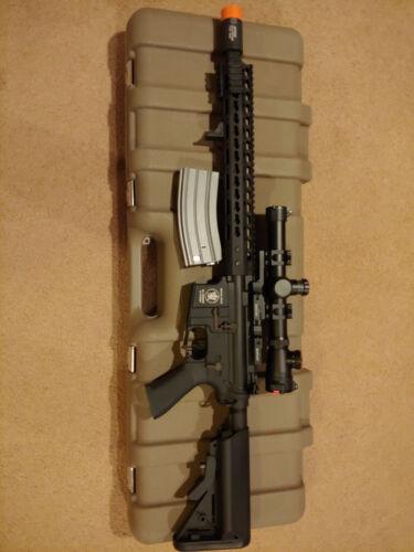 """Custom AEG Airsoft 6mm Rifle Noveske+rail,APS """"Silver Edge"""" Gearbox, Lonex Hopup"""