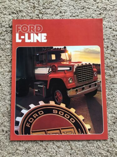 1976  Ford L-Line heavy-duty trucks, sales literature.