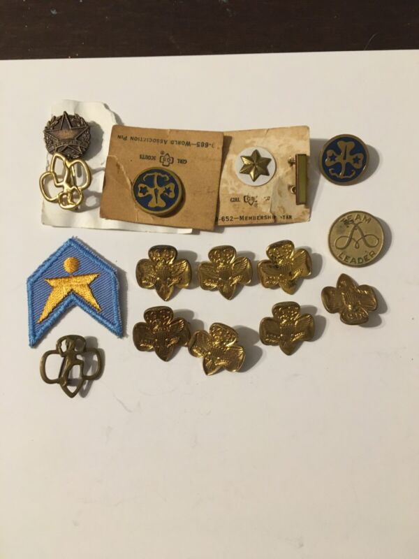 Vintage Girl Scout Pin Lot