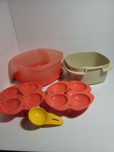 New TUPPERWARE Multi Server Steamer with Inserts Microwave FREE US SHIPPING